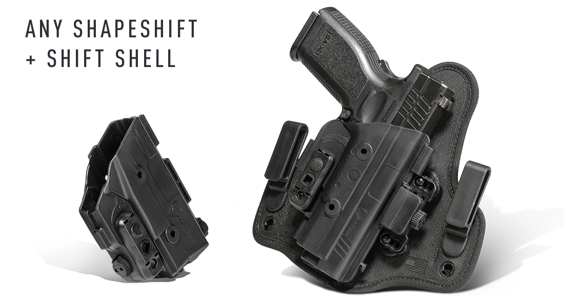 shift shell and shapeshift holster combo