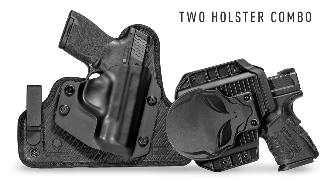 get 2 holsters for 20% off with the 2-holster combo deal