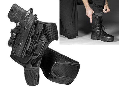 Sig P229r Railed 40 cal ShapeShift Ankle Holster