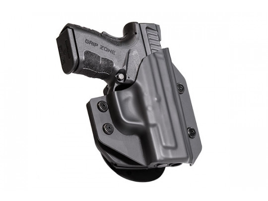 Glock - 38 with Crimson Trace Defender Laser DS-121 Cloak Mod OWB Holster (Outside the Waistband)