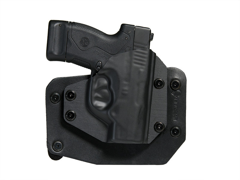 Outside the Waistband Beretta Nano (BU9) Leather Holster in Black Leather