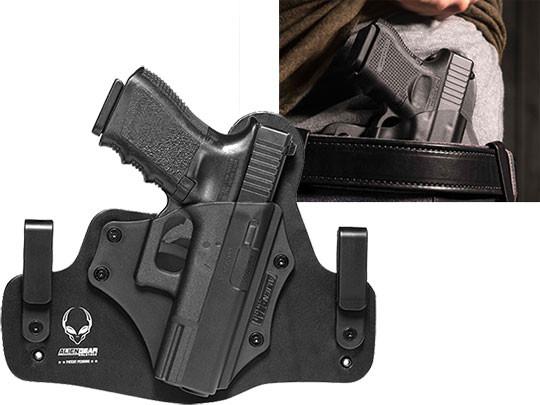 Glock 32 Leather Hybrid holster for IWB Carry