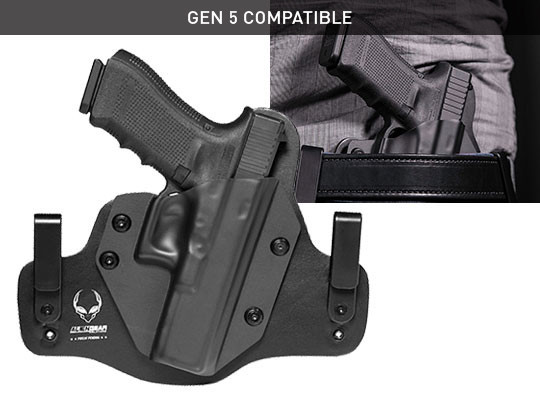 best glock 17 leather hybrid holster