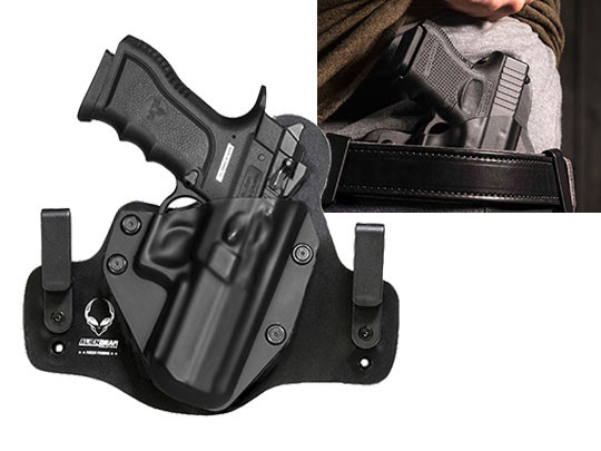 Leather Hybrid Magnum Research Baby Desert Eagle Semi Compact Polymer With Rail Holster