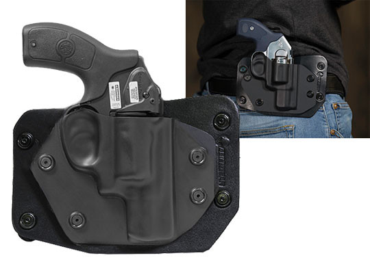 S&W Bodyguard 38 Revolver w/ Integrated Laser Cloak Slide OWB Holster (Outside the Waistband)