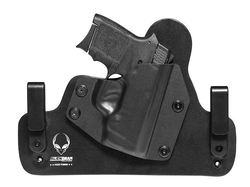 Leather Hybrid S&W Bodyguard .380 Auto w/ Integrated Laser Holster