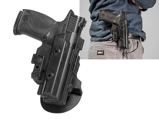 S&W M&P9 4.25 inch barrel ShapeShift OWB Paddle Holster