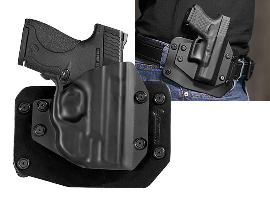 S&W M&P Shield 40 caliber Crimson Trace Green Laser LG-489G Outside the Waistband Holster