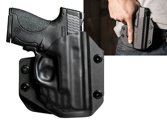 Paddle Holster OWB Carry for Shield 9mm with Green Laser