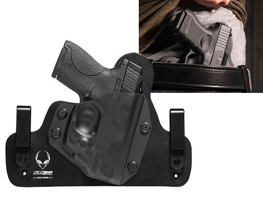 Leather Hybrid S&W M&P Shield 9mm LaserMax CenterFire Laser Holster