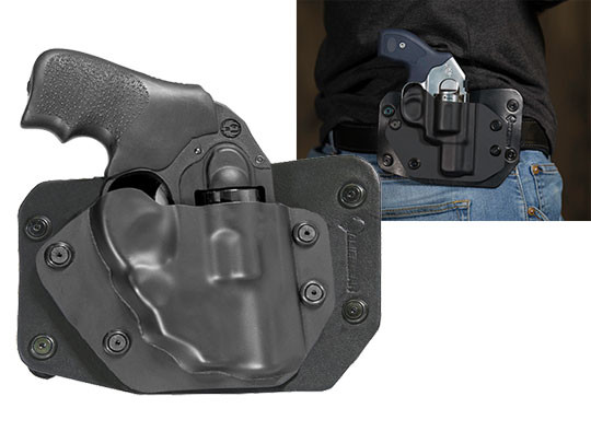 Ruger LCR 38 SPL with LaserMax Laser Revolver Cloak Slide OWB Holster (Outside the Waistband)