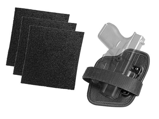 Velcro pads and ShapeShift Adhesive Hook and Loop Holster