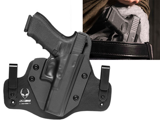 Leather Inside the waistband glock 22 hybrid holster