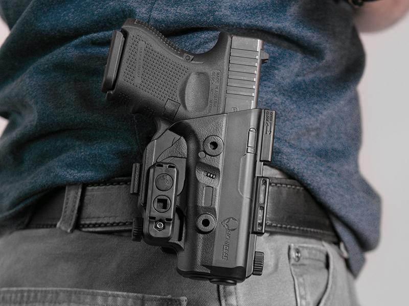 glock 26 paddle holster worn