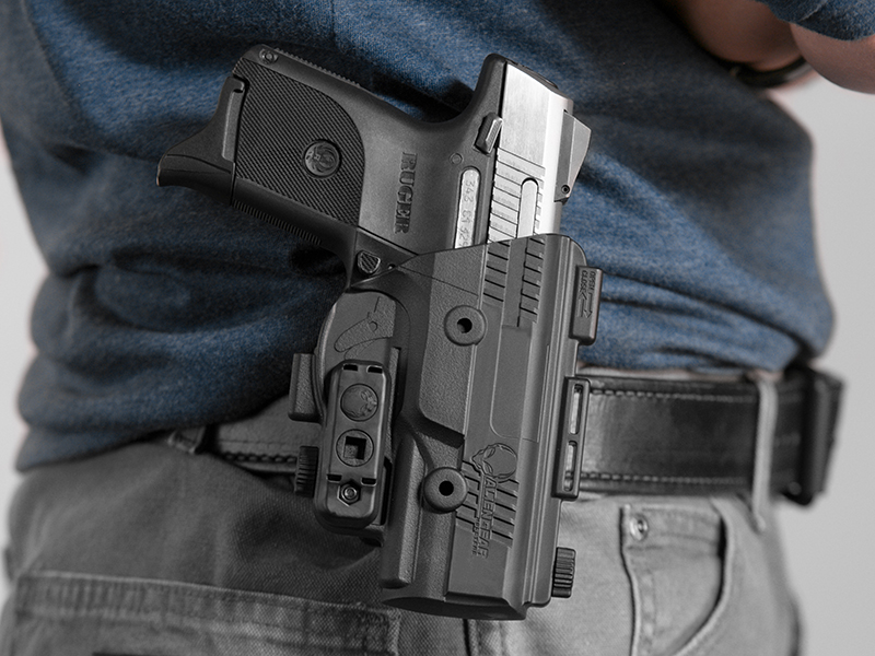 wearing the ruger sr9c paddle holster
