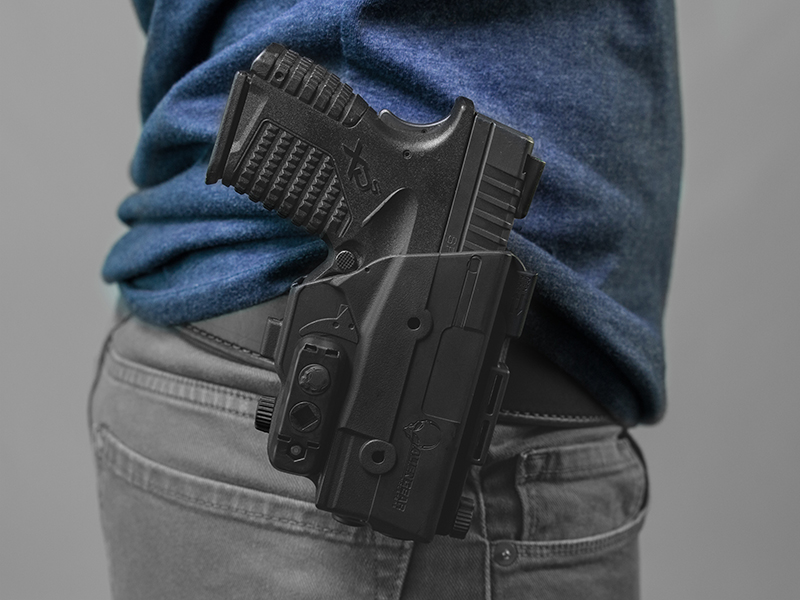 wearing the xds 3.3 paddle holster