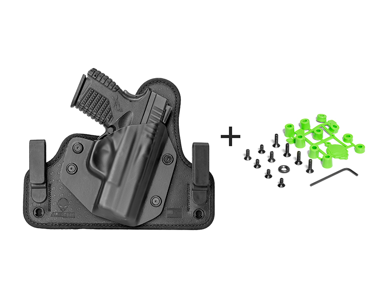 best concealment glock 23 with viridian reactor r5 green red laser ecr holster iwb