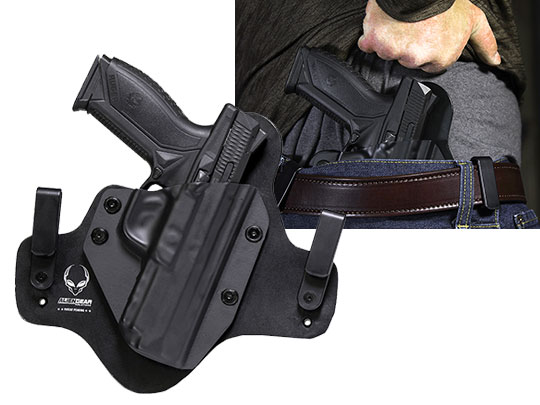 Wearing Hybrid Leather Ruger American Holster