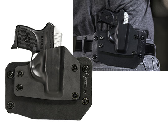 Outside the waistband concealment holster for the ruger lcp