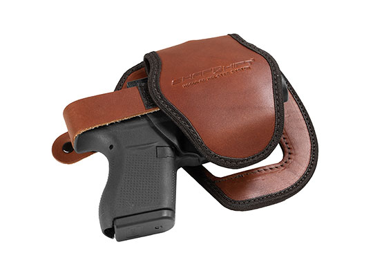 brown gun platform with shell for shapeshift shoulder holster