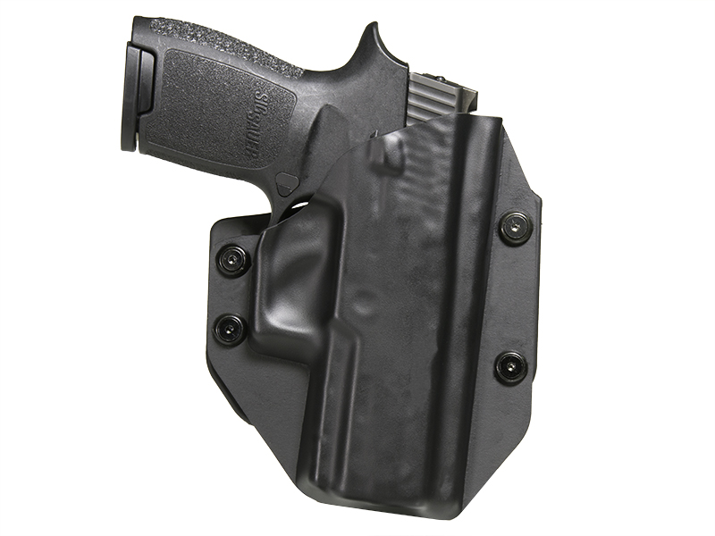 Sig P250 Compact with Picatinny Rail OWB Paddle Holster