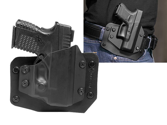 Springfield XDs 3.3 with Viridian Reactor R5 Green/Red Laser ECR Outside the Waistband Holster
