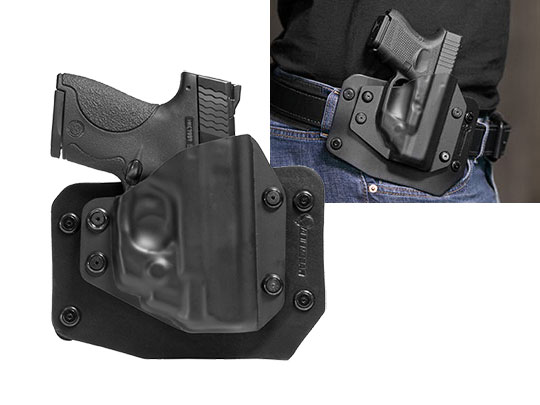Good S&W M&P Shield 9mm LaserMax CenterFire Laser OWB Holster