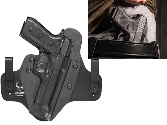 Leather Hybrid Taurus PT92 with Rail Holster