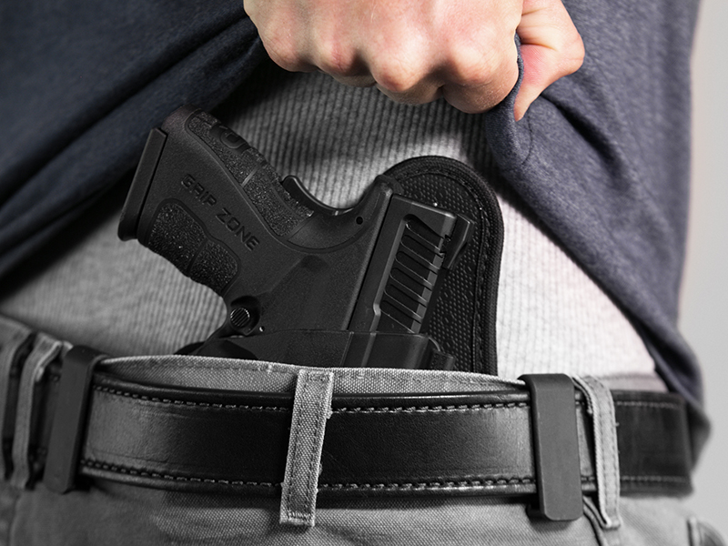 wearing the iwb holster for springfield xd mod 2