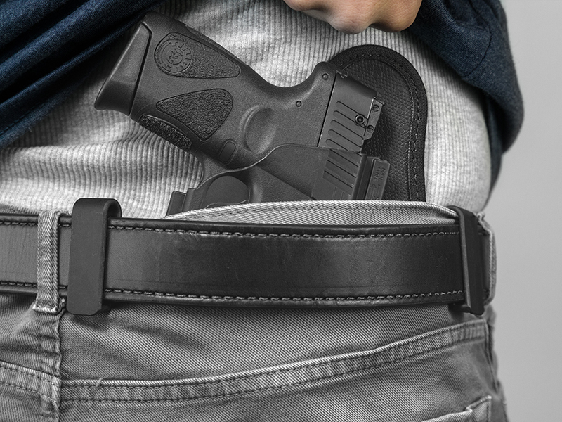 taurus pt111 iwb holster being worn