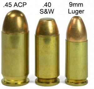 9mm vs 40 caliber vs .45 ACP