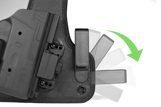 Shapeshift's adjustable belt clips