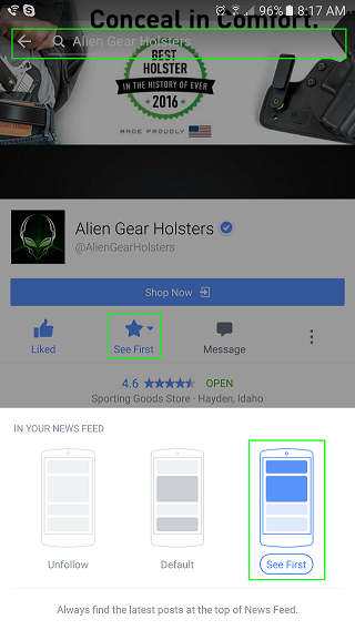 alien gear holster facebook steps
