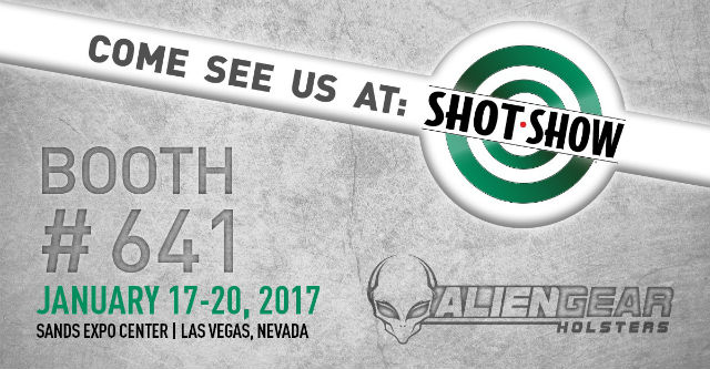 alien gear holsters booth at shot show 2017