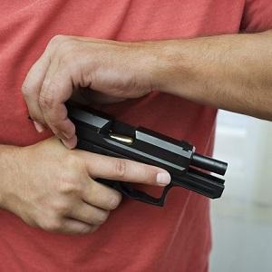 pistol brass check