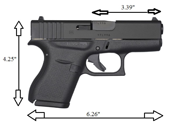 dimensions of the Glock 43