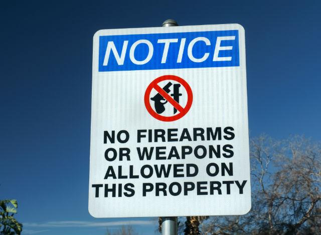 zoo gun free zone
