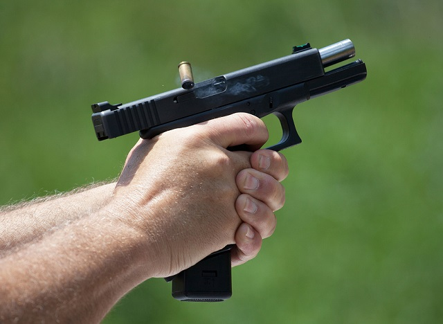 handgun shooting recoil