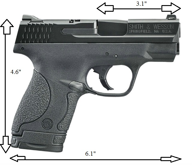dimensions of the M&P Shield 9/40