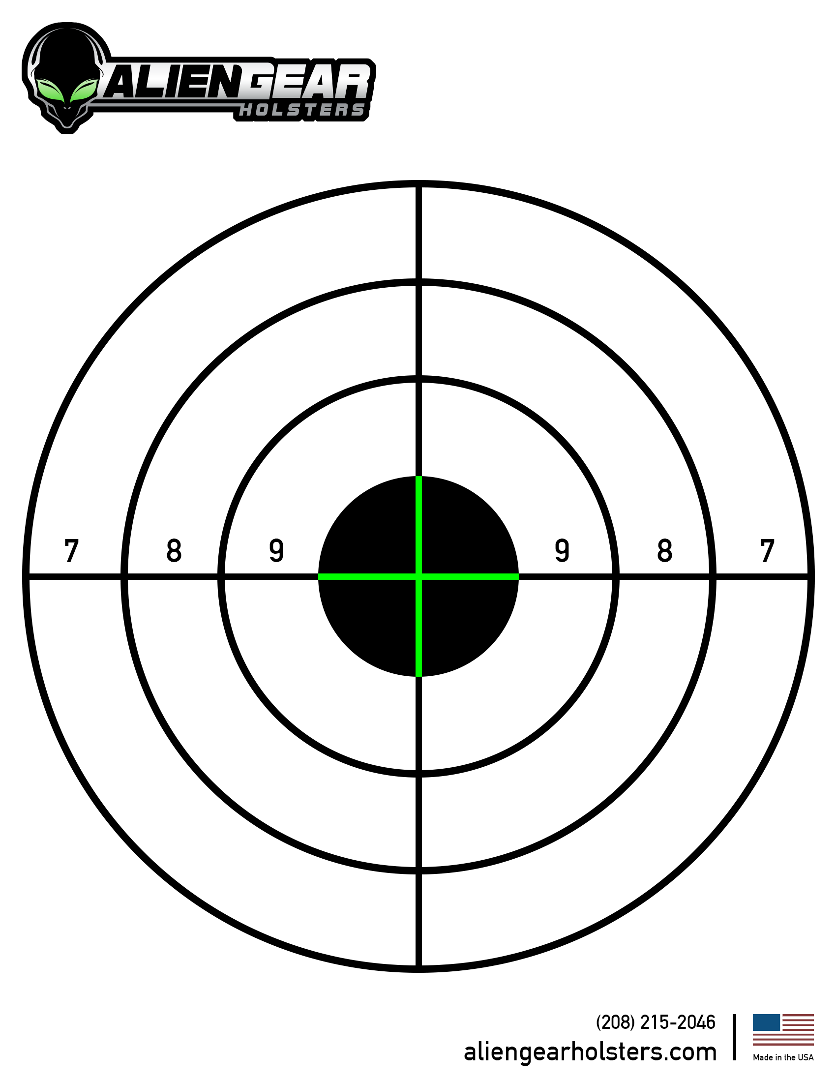 Shooting target you can print