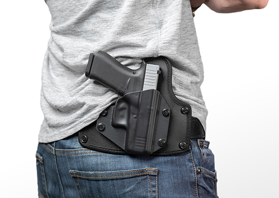 1911 Railed - 4 inch with Crimson Trace grips Cloak Belt Holster