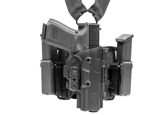 Walther PPQ M2 4 inch 9mm ShapeShift Drop Leg Holster