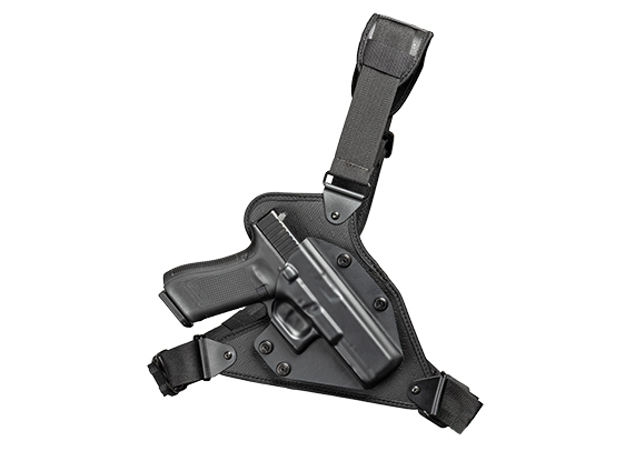 Glock - 21 with Crimson Trace Defender Laser DS-121 Cloak Chest Holster