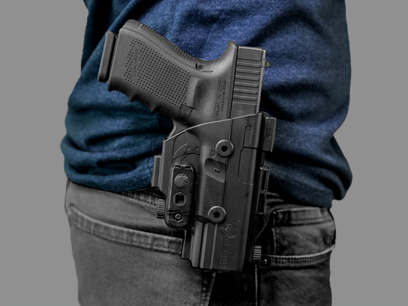 wearing the glock 19 paddle holster