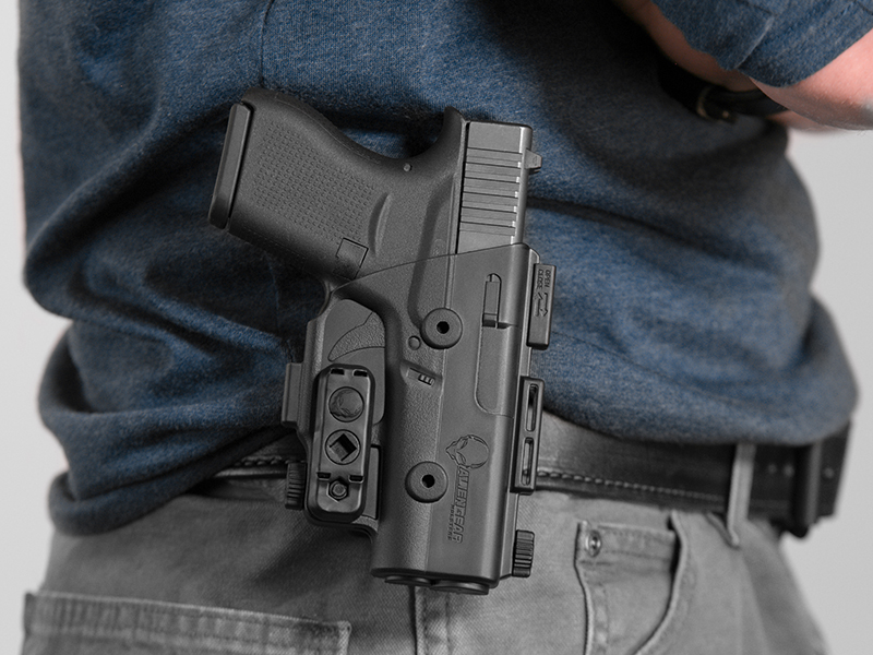 wearing the g43 paddle holster