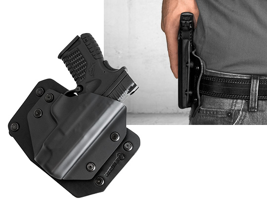 Glock - 17 with Crimson Trace Rail Master Pro CMR-204/205 Cloak Slide OWB Holster (Outside the Waistband)