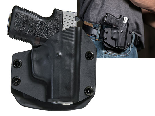 OWB Paddle Holster Carry with The Kahr CM40