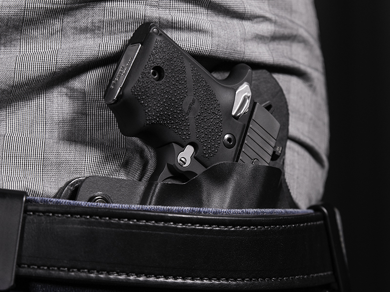 Wearing Hybrid Leather Sig P938 Holster