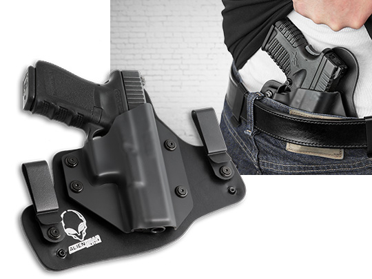 Glock - 17 with Crimson Trace Rail Master Pro CMR-204/205 Cloak Tuck IWB Holster (Inside the Waistband)
