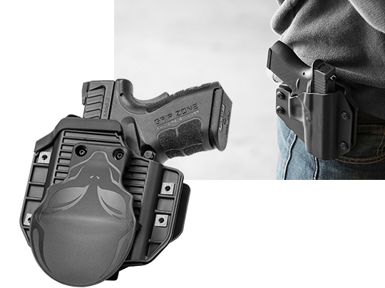 Magnum Research DE 50 AE Stainless w/ bottom rail Cloak Mod OWB Holster (Outside the Waistband)